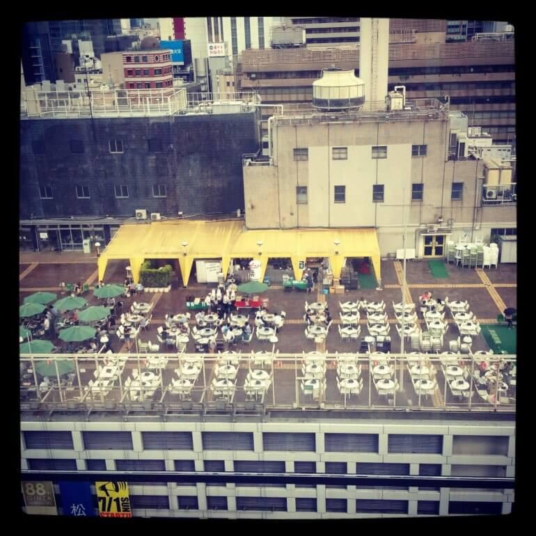 2012年銀座松坂屋の屋上ビアガーデン